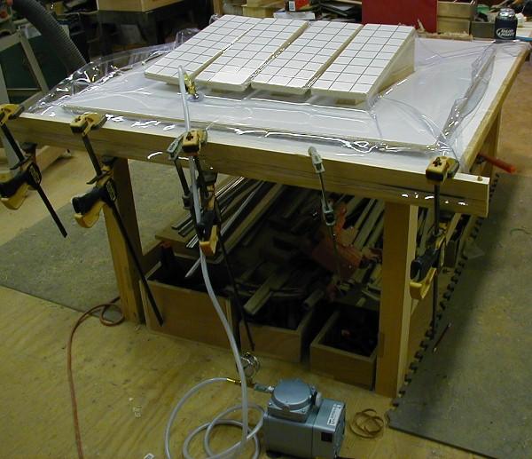 Making A Large Vacuum Bag For Veneering